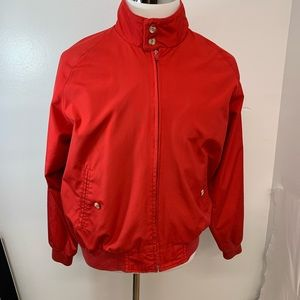 Vintage Lands End Jacket L Red Full Zip O41